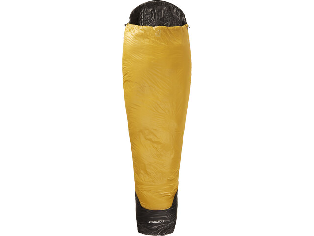 Nordisk Oscar -2° Sleeping Bag L, mustard yellow/black